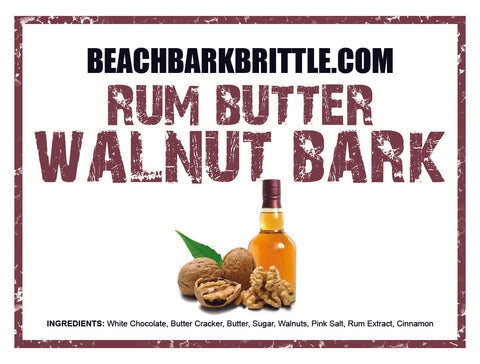 Rum Butter Walnut BEACH BARK® - 1/2 & 1 lb Boxes