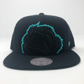 Vancouver Grizzlies Claw Logo Black / Green Snapback