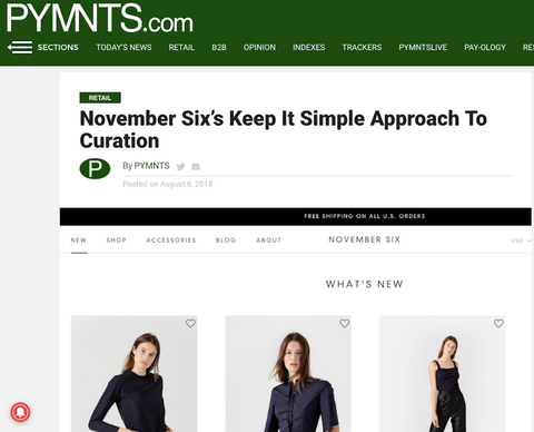 November Six's Keep It Simple Approach To Curation