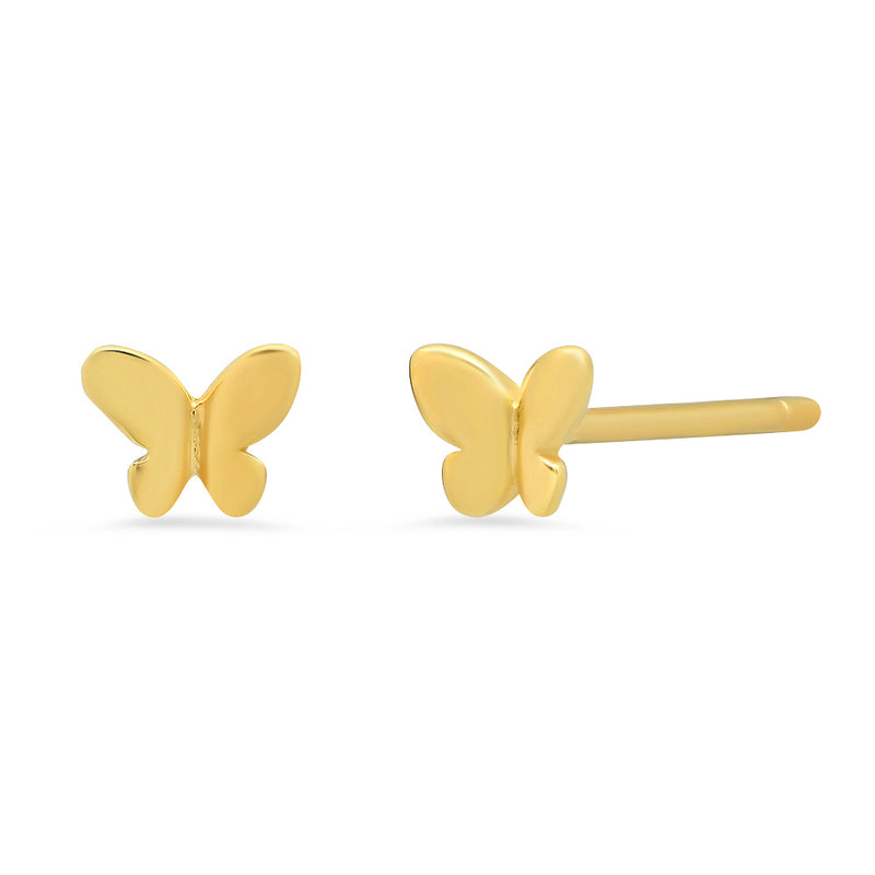 YaYa Butterfly Gold Mini Stud Earrings