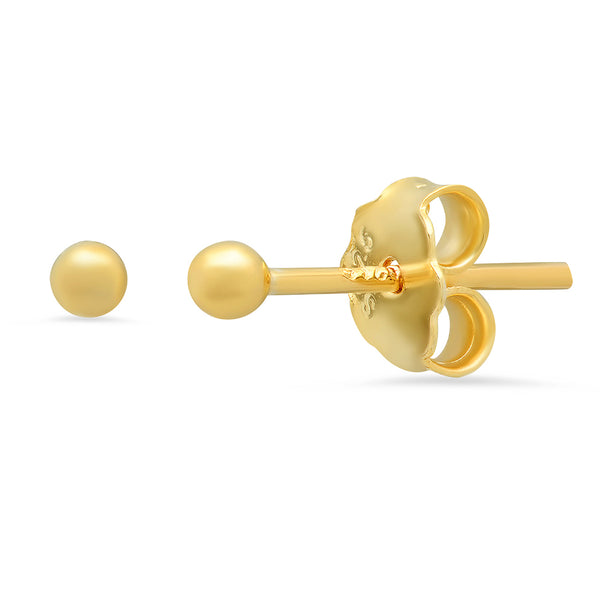 Dot Stud Earrings - Gold