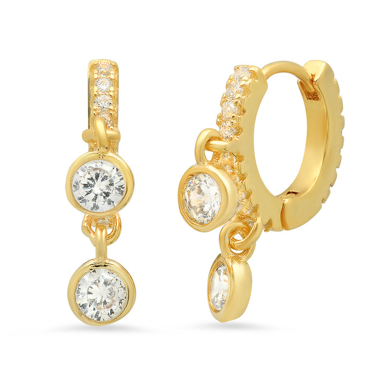 November Six Mini Gold and Diamond Hoop Earrings