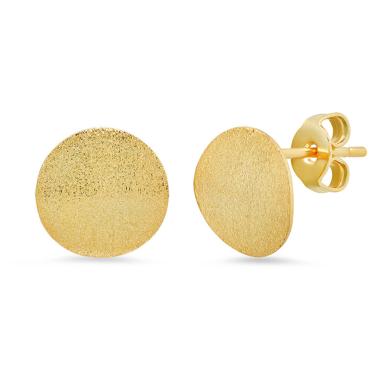 Madison Round Stud Earrings