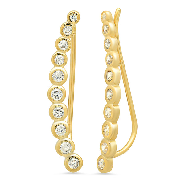 Elizabeth Ear Crawler Earring - Gold