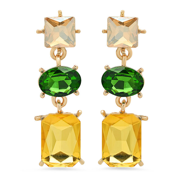 Fortuna Gold-Tone Crystal Earrings
