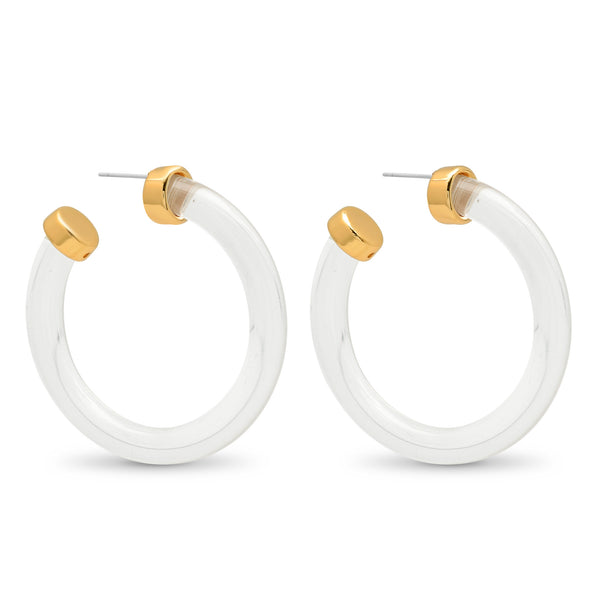 Gwen Gold  Hoop Earrings