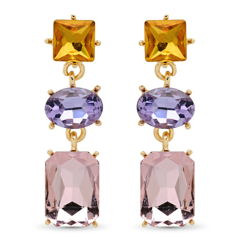 Fortuna Gold-Tone Crystal Chandelier Earrings