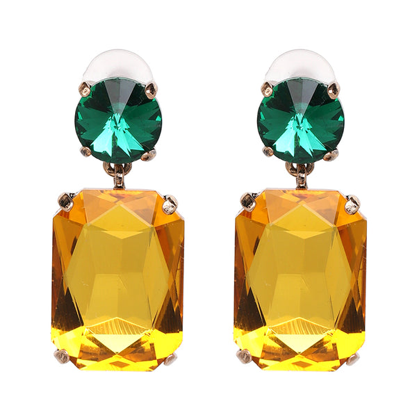 Poppy Gold-Tone Crystal Earrings