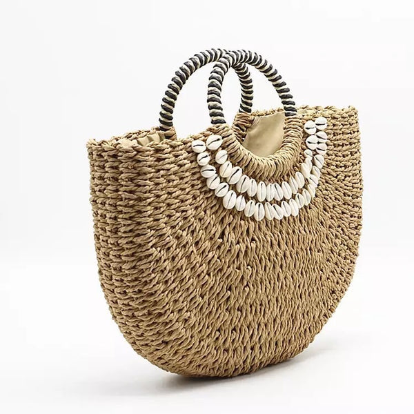 Shell Straw Bag