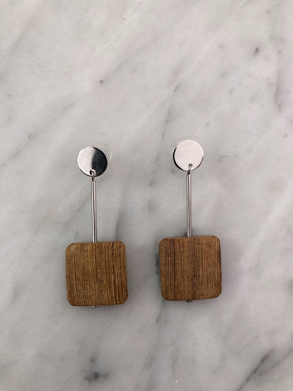 Sophie Wood Earrings