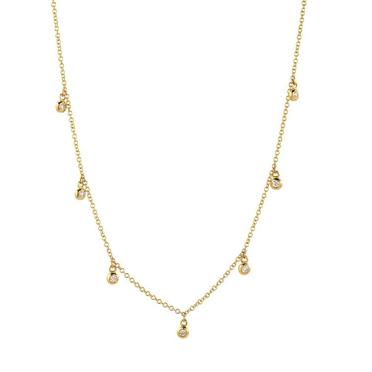 Pave Diamond & 18k Yellow Gold Plated Necklace