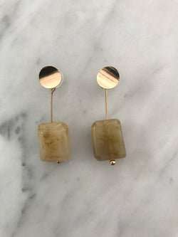 Madeline Marble Tan Earrings