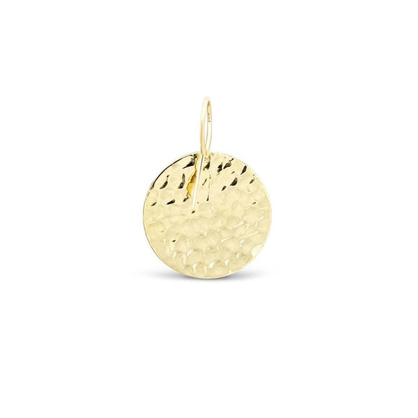 Hammered Gold Round Earrings