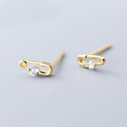 Mini Diamond Pin Earring