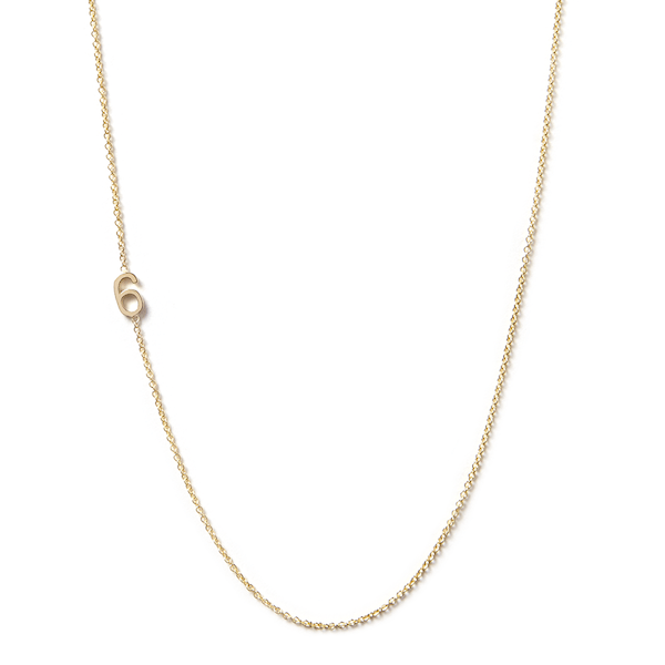 Jewelry - 14K Asymmetrical Number Necklace