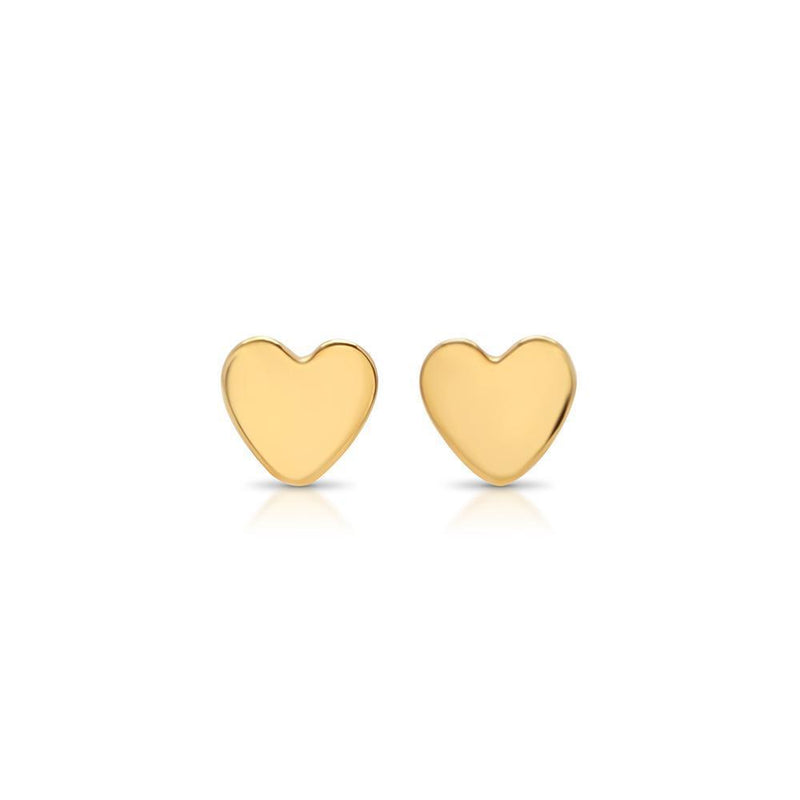 Jewelry - 14K Gold / Rose Gold Mini Heart Studs