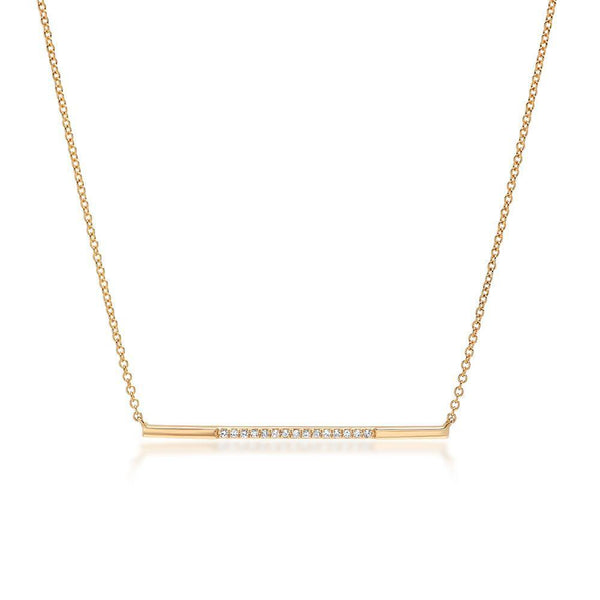 Jewelry - Gold Diamond Bar Necklace