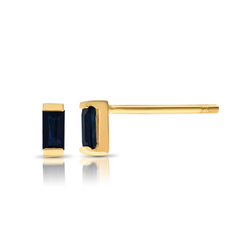 Jewelry - Navy Baguette Single Stud Earring
