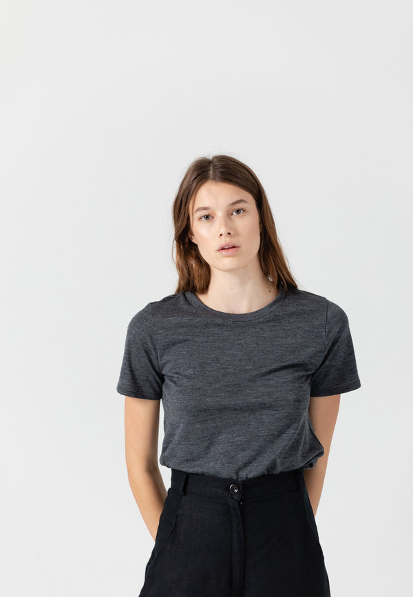 SHOP - November Six Merino Wool Gray Shirt