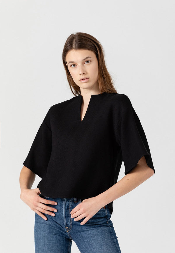 SHOP - UES V-Neck Top - Black L November Six