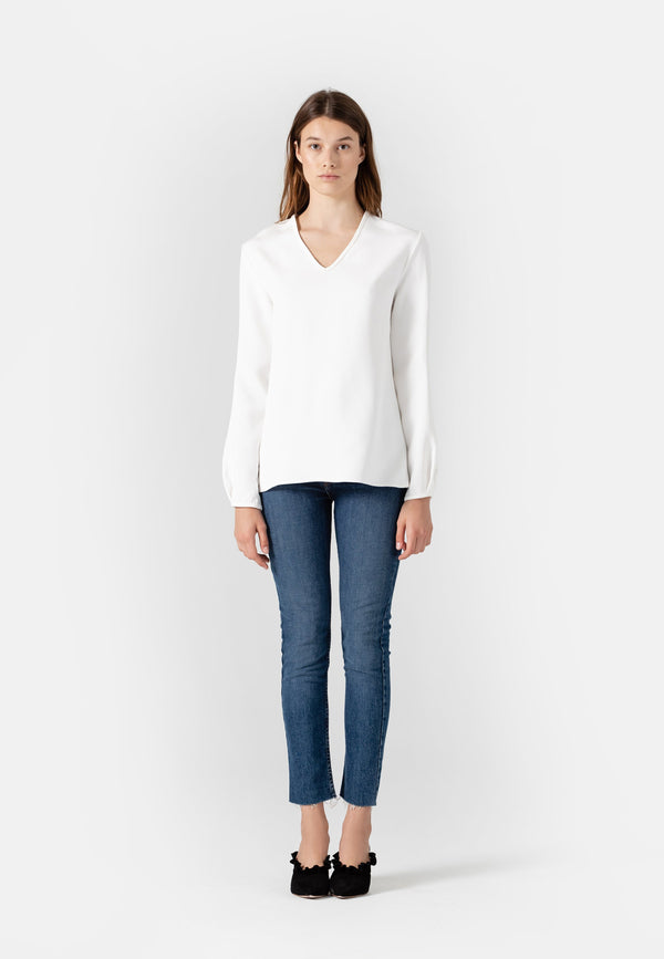 SHOP - Yael  Long Sleeved V-Neck Top L November Six