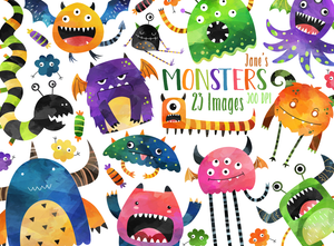 Monsters Graphics Set