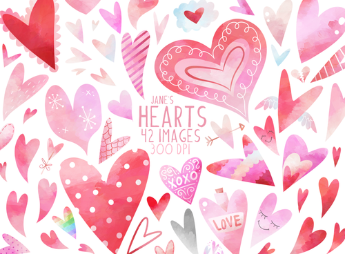 Hearts Graphics Set
