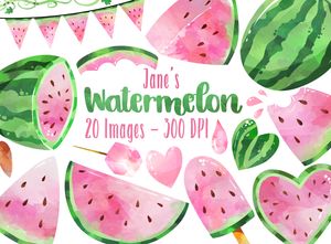 Pink Watermelon Graphics Set