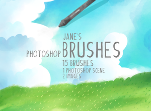 Watercolor Photoshop Brushes Set