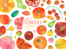 Tomatoes Graphics Set