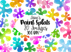 Paint Splats Graphics Set