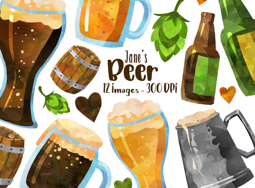 Beer Graphics Set