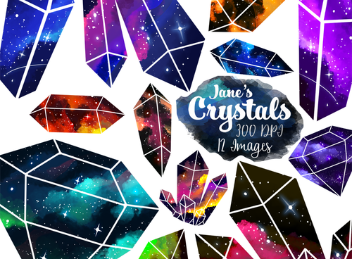Space Crystal Graphics Set