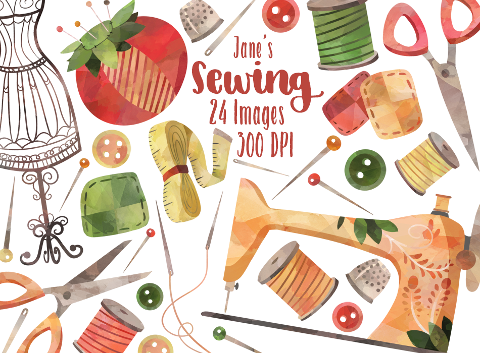Sewing Graphics Set