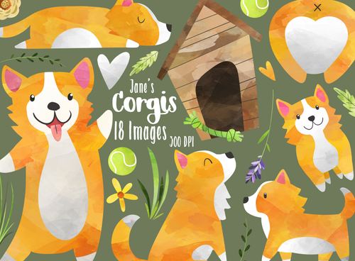 Corgis Graphics Set
