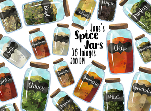 Spice Jars Graphics Set