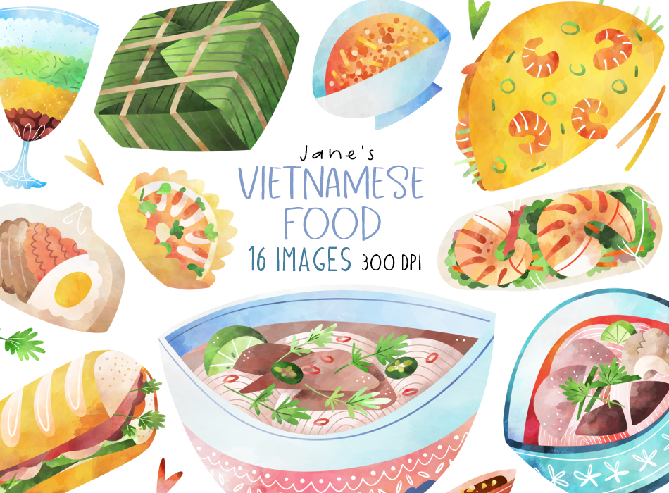 Vietnamese Food Graphics Set