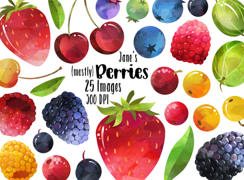Berries Graphics Set