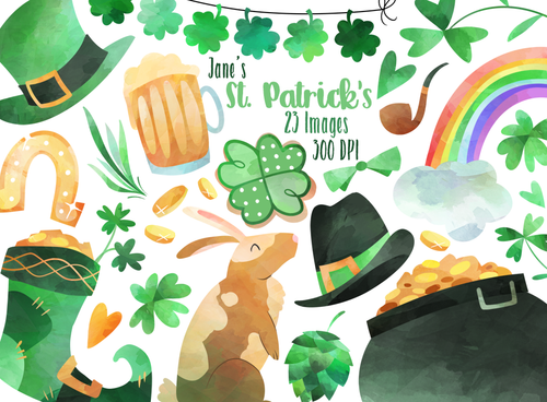 St. Patrick's Day Graphics Set