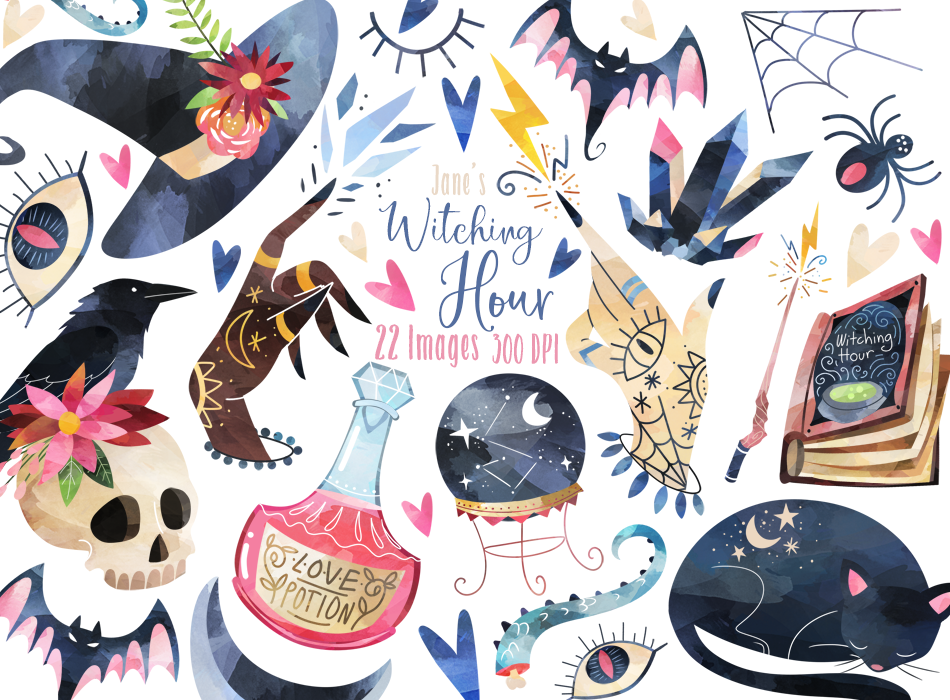 Witching Hour Graphics Set