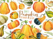Pumpkin Graphics Set