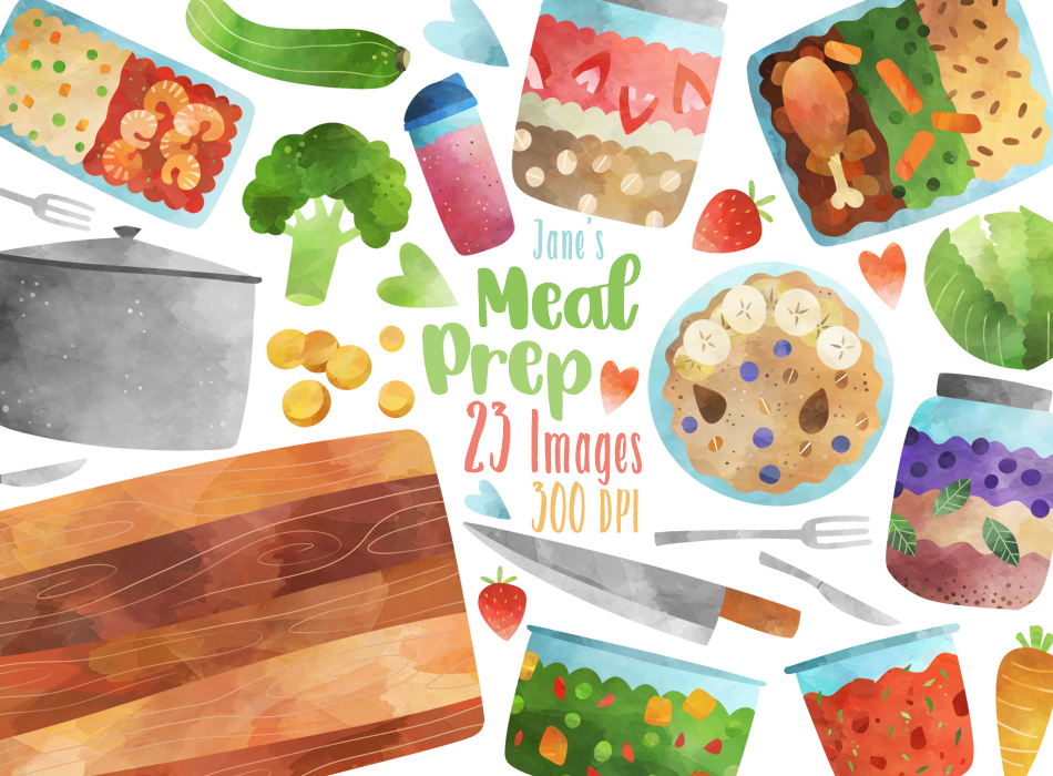 Meal Prep Graphics Set