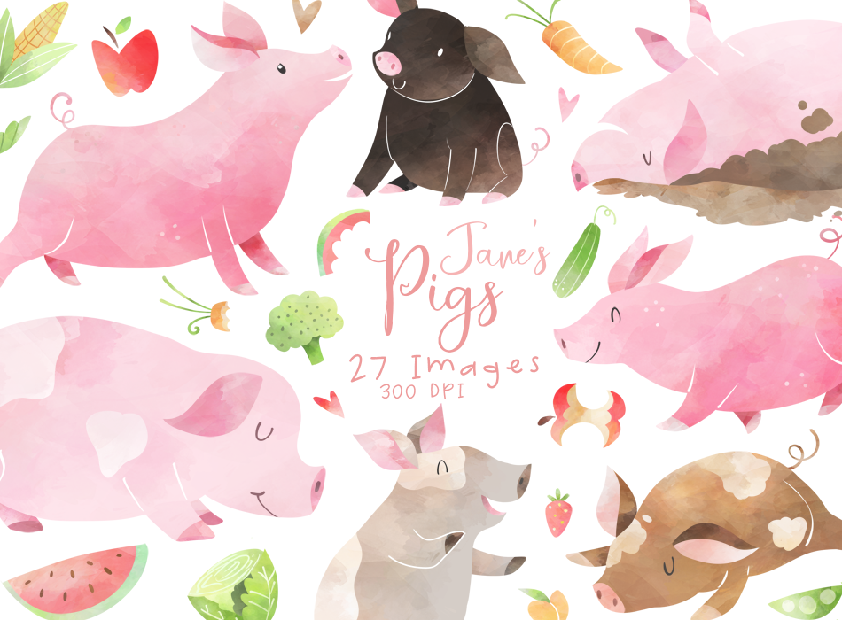 Pigs Graphics Set