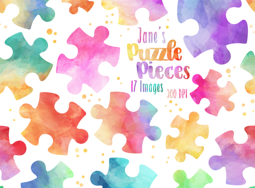 Puzzle Piece Graphics Set