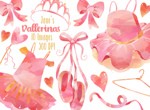 Ballerina Graphics Set