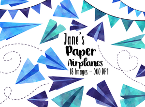 Paper Airplanes Graphics Set