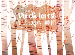 Birch Tree Graphics Set