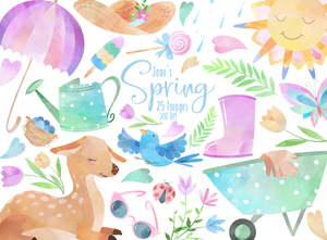 Spring Graphics Set