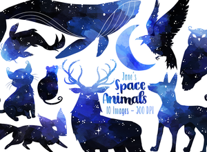 Space Animals Graphics Set