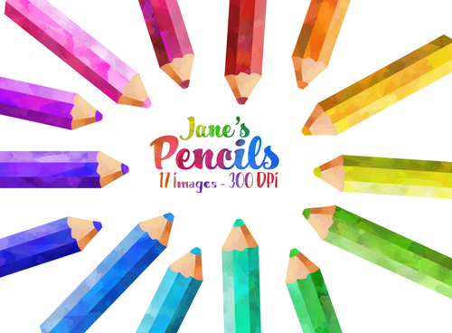 Colored Pencil Graphics Set